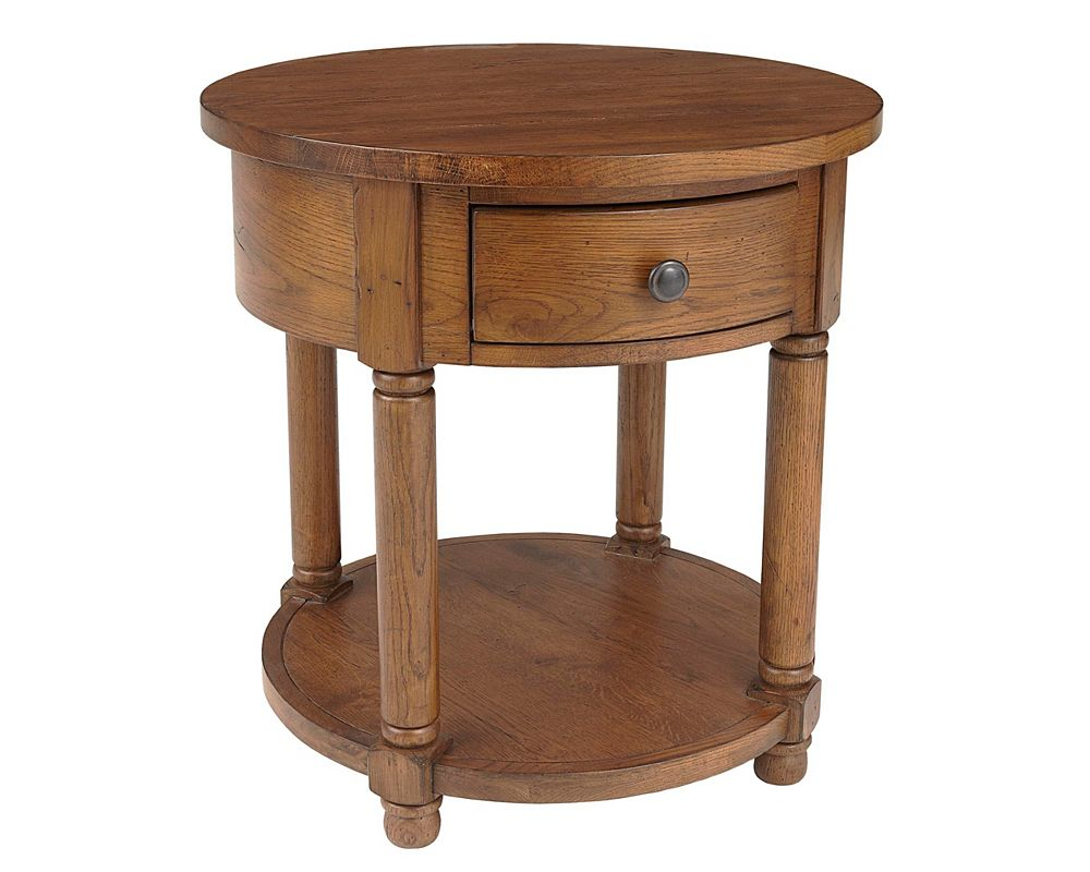 Attic Heirlooms Round End Table Broyhill