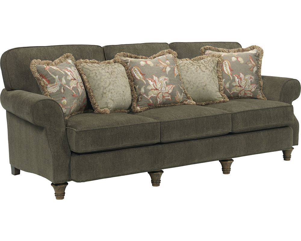 Broyhill Sofa Fabrics Traditional Nailhead Accented 99 Sofa In Cream Mathis Brothers Thesofa
