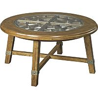 New Vintage™ Round Grid Cocktail Table