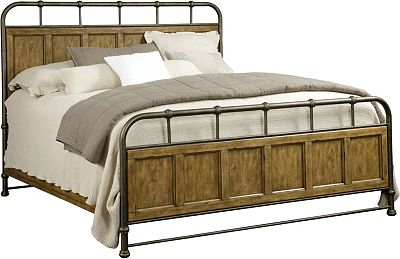 new vintage™ metal/wood bedstead | broyhill | broyhill furniture