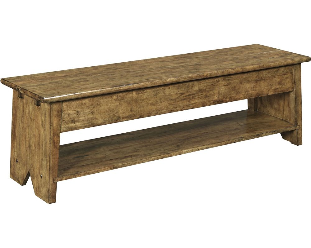 New Vintage™ Lift-Top Storage Bench, Time-Worn Ebony - New Vintage™ Lift-Top Storage Bench, Time-Worn Ebony Broyhill