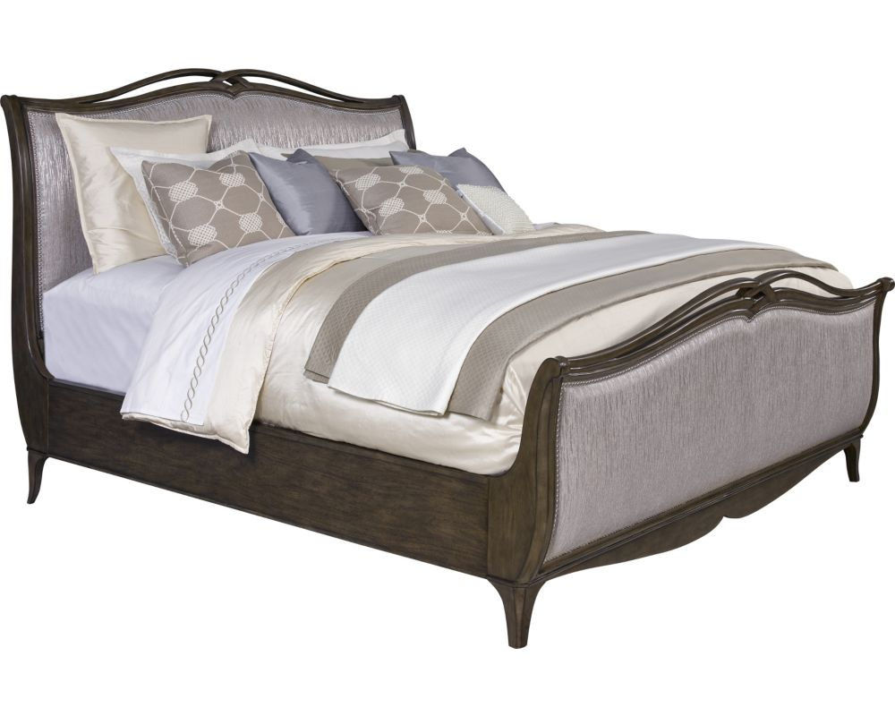 Cashmera sleigh bed beds bedroom for Bedroom designs with sleigh beds