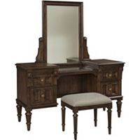 Lyla™ Vanity and Stool With Mirror