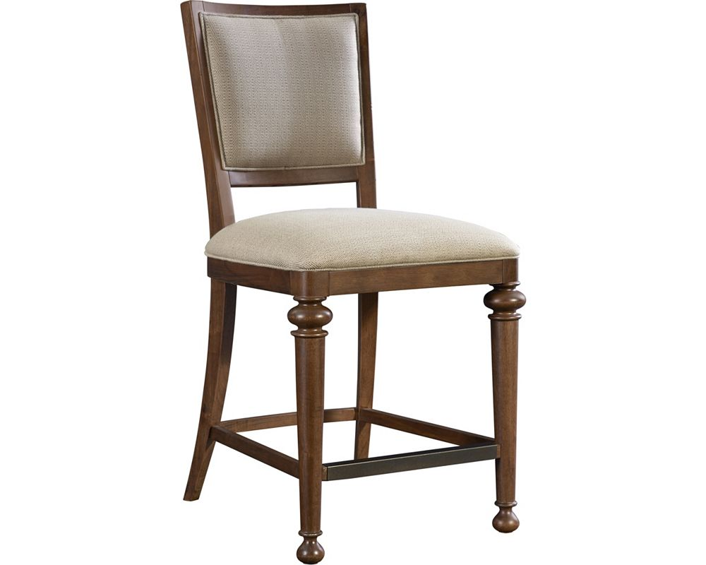 Cascade Upholstered Seat Back Counter Stool Broyhill