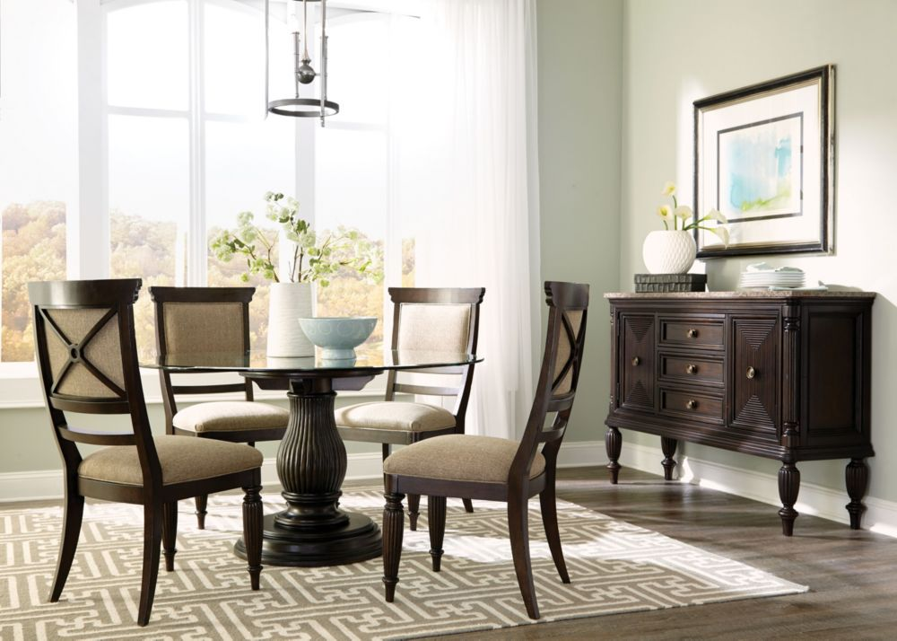 jessa dining table with adjustable base | broyhill | broyhill
