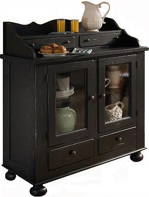 attic heirlooms dining chest, antique black | broyhill | broyhill