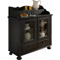 Attic Heirlooms Dining Chest, Antique Black