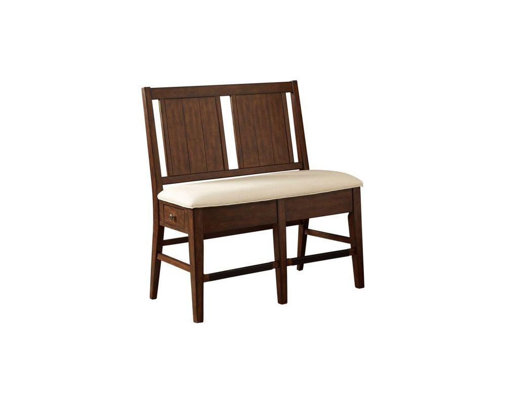 Attic Heirlooms Storage Bench Rustic Oak Broyhill Furniture