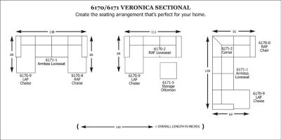 Veronica Sectional  sc 1 st  Broyhill Furniture : broyhill veronica sectional - Sectionals, Sofas & Couches