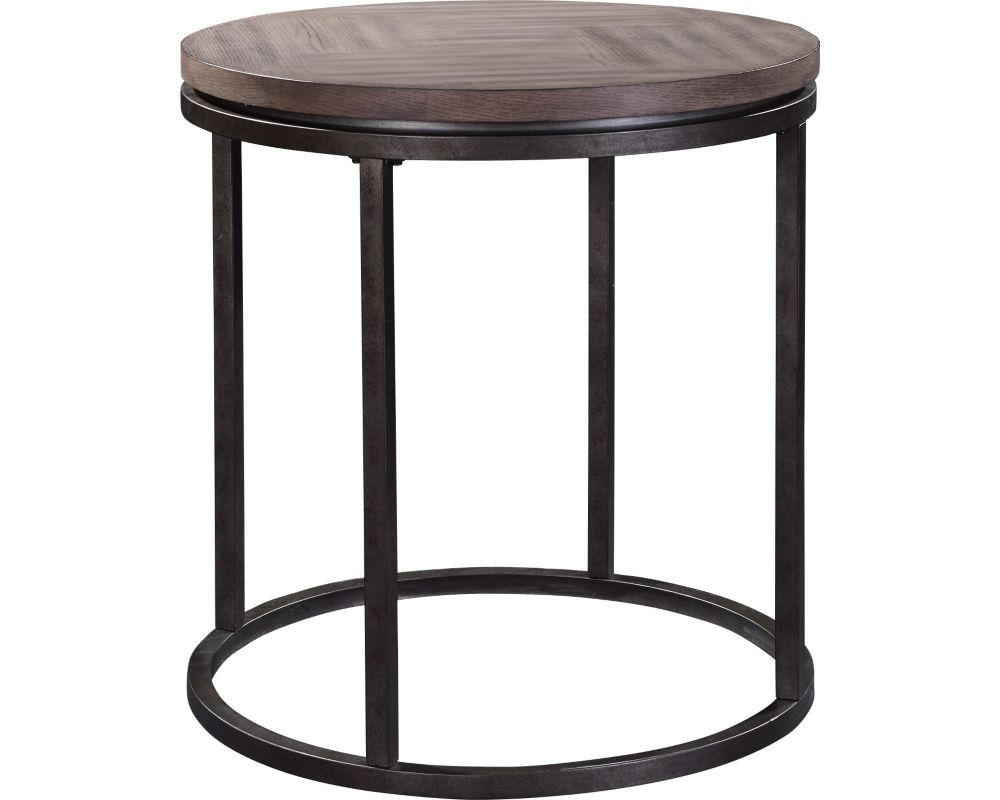 St. John's Place Round Lamp Table-Wood Top