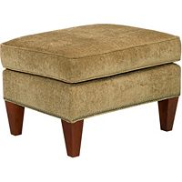 Lauren Ottoman (Chrome Nailhead)