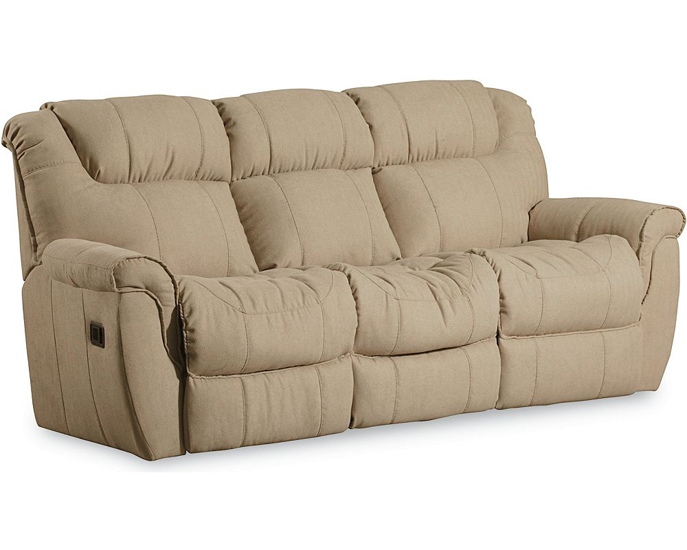 Montgomery 2 Arm Double Reclining Sofa W Table Massage Lane Furniture