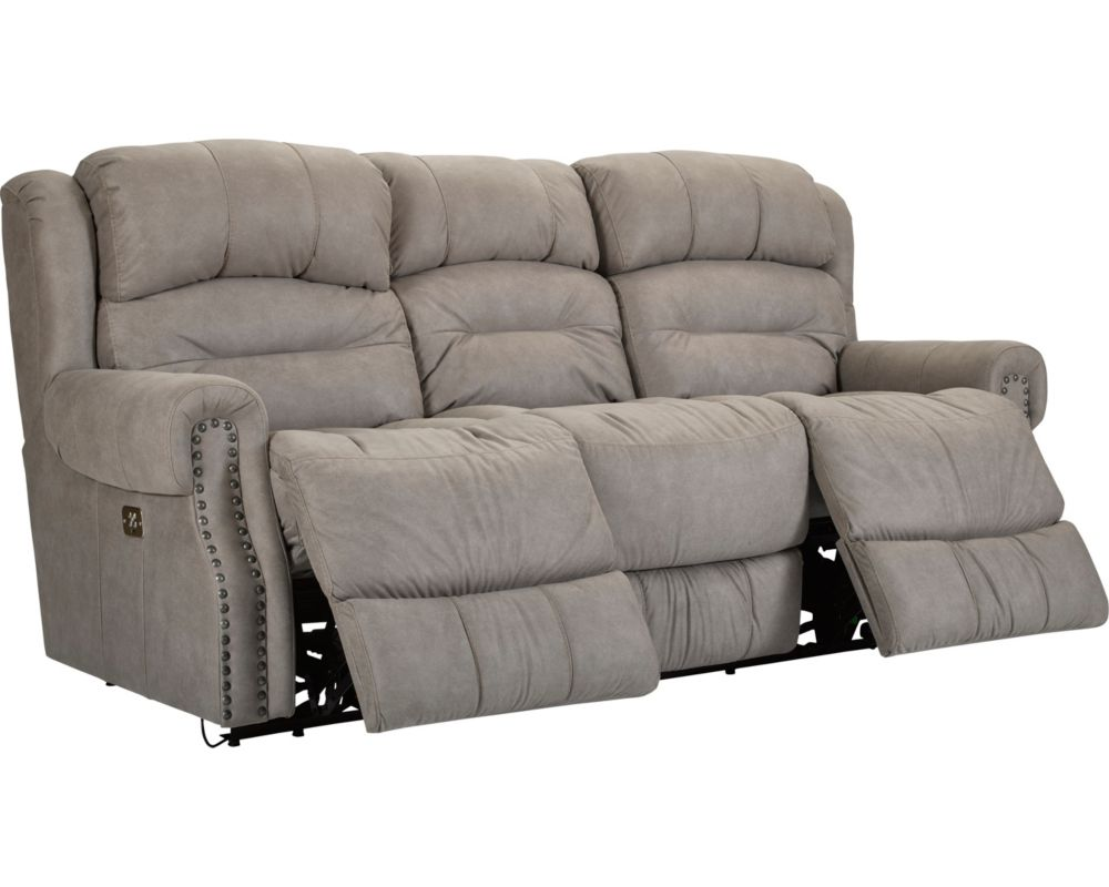 Sofa reclinable reclining sofas recliner sofa lane for Sectional sofa with double recliner