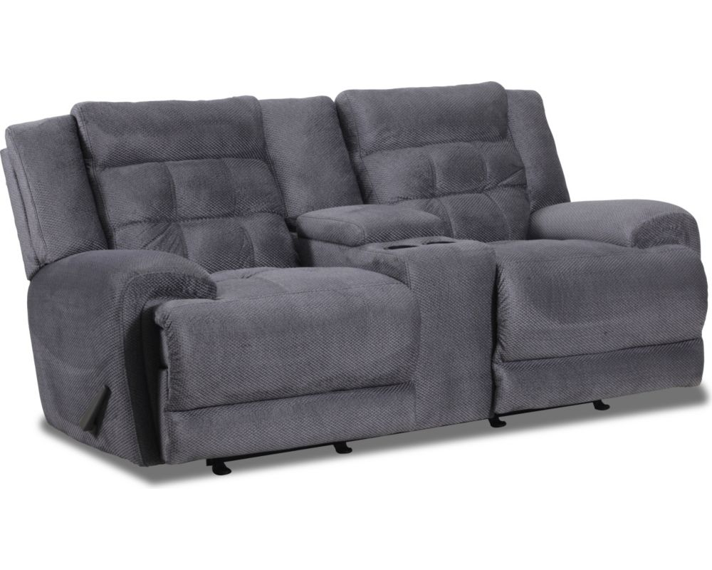 Corsica rocking reclining console loveseat Rocking loveseats