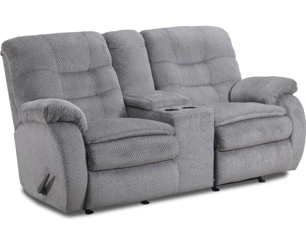 Fresno Reclining Rocking Console Loveseat Loveseats Sofas And Loveseats