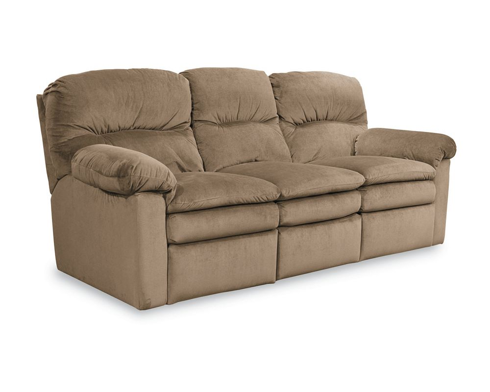 Lane reclining leather sofa refil sofa for Sectional sofa with bed and recliner