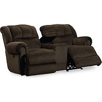 Evans Reclining/Rocking Console Loveseat