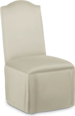 Donna Side Chair with Double Kick Pleat Skirt