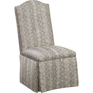 Donna Side Chair with Kick Pleat Skirt