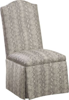 Charmant Donna Side Chair With Kick Pleat Skirt