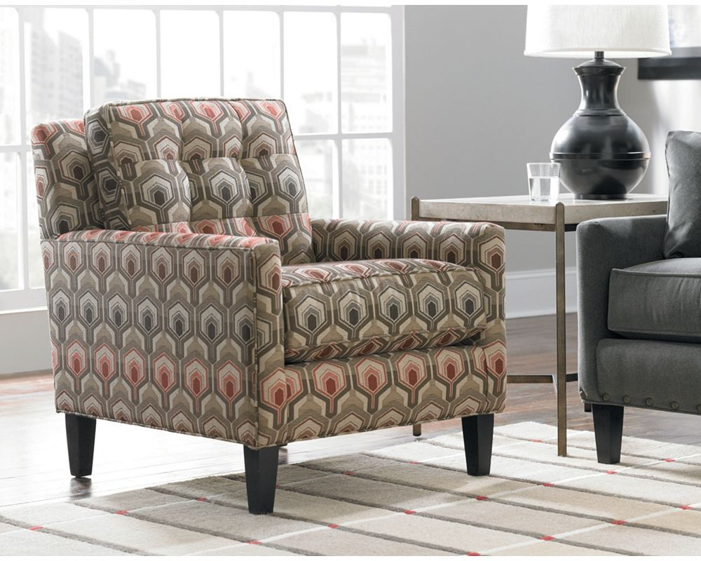 Thomasville Living Room Furniture Highlife Biscuit Back Chair Living Room Furniture Thomasville