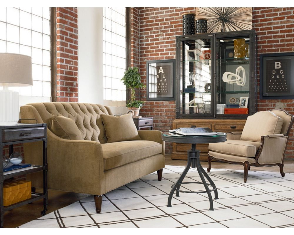 barcelona settee living room furniture thomasville furniture