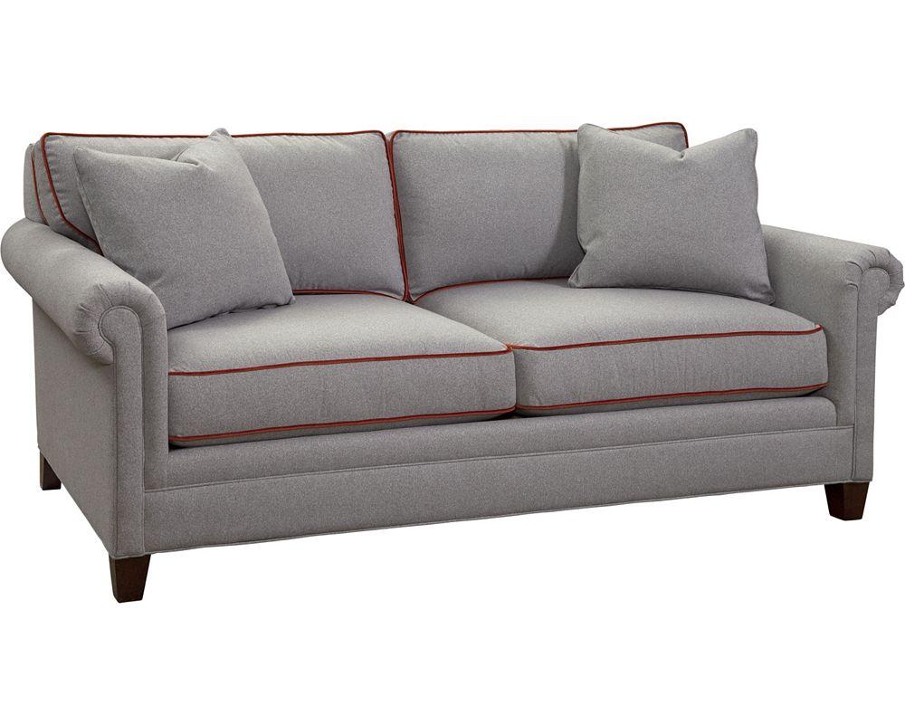 Mercer small 2 seat sofa panel arm thomasville furniture for Small sectional sofa thomasville