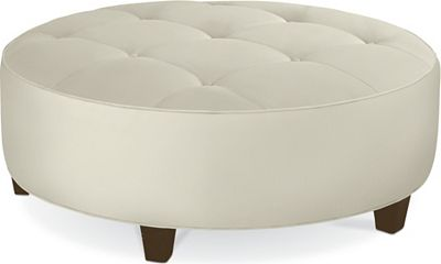 Brooklyn Round Button Top Ottoman (No Nails)