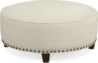 Brooklyn Round Plain Top Ottoman (#52 Nails)