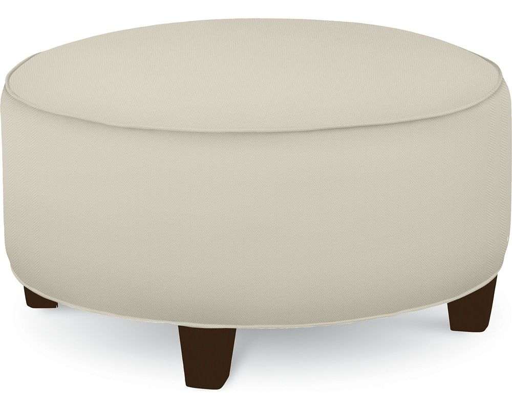 Brooklyn Round Plain Top Ottoman (No Nails)