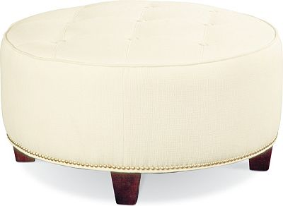 Brooklyn Round Button Top Ottoman (#9 Nails)
