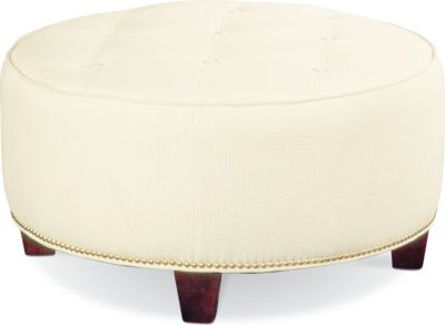brooklyn round button top ottoman 9 nails