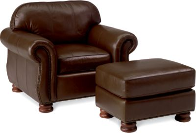 benjamin chair express - Brown Leather Club Chair