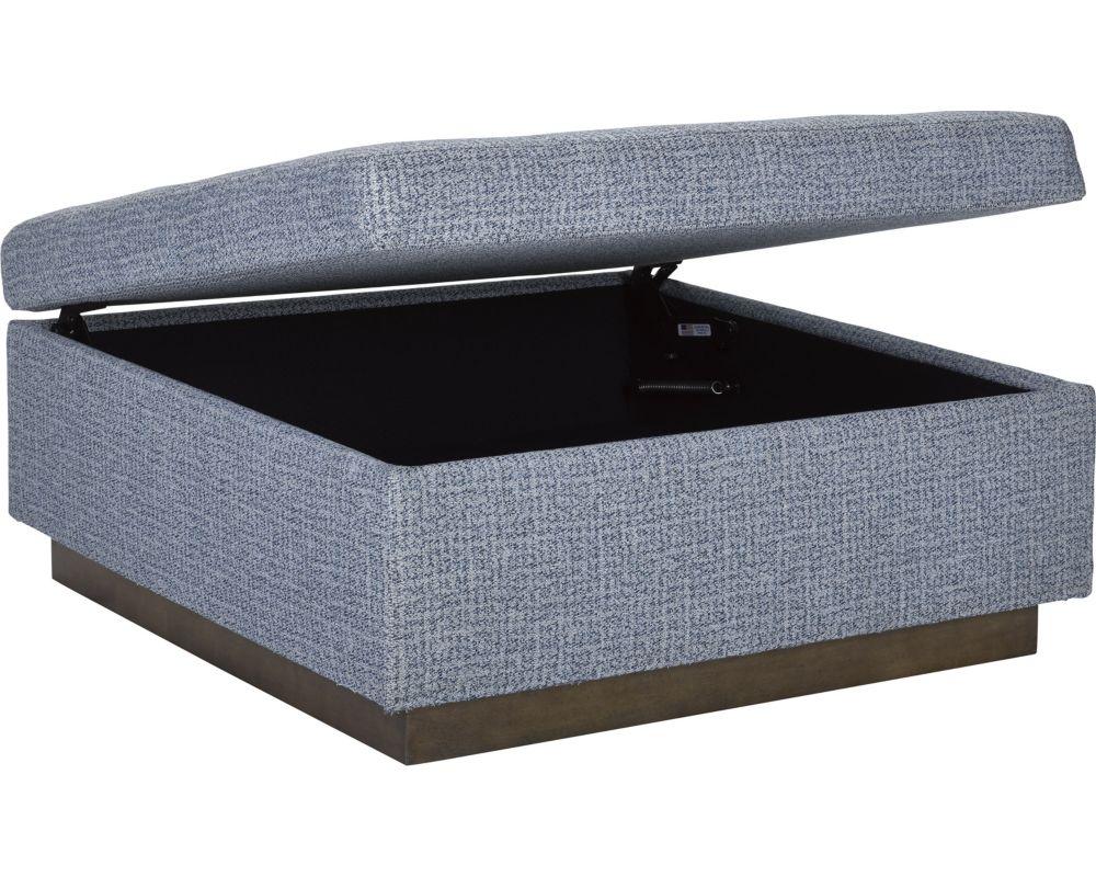 Anthony baratta neal square storage ottoman thomasville for Anthony baratta luna upholstered bed