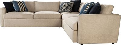 sectional, living room furniture, fabric sectional