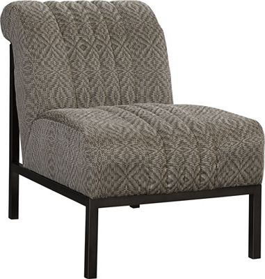 Mercedes Chair (Fabric - Dark Nickel Finish)