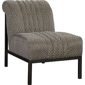 Mercedes Chair (Fabric - Dark Nickel Finish)