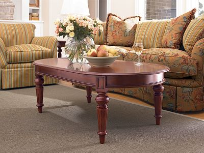 oval cocktail table | living room furniture | thomasville furniture