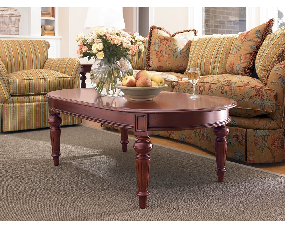 Fredericksburg Oval Cocktail Table. Zoom In - Oval Cocktail Table Living Room Furniture Thomasville Furniture