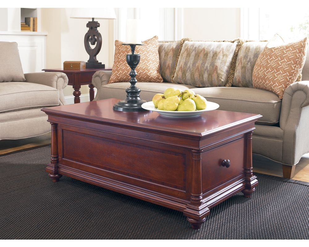 Thomasville Living Room Furniture Storage Cocktail Table Living Room Furniture Thomasville Furniture