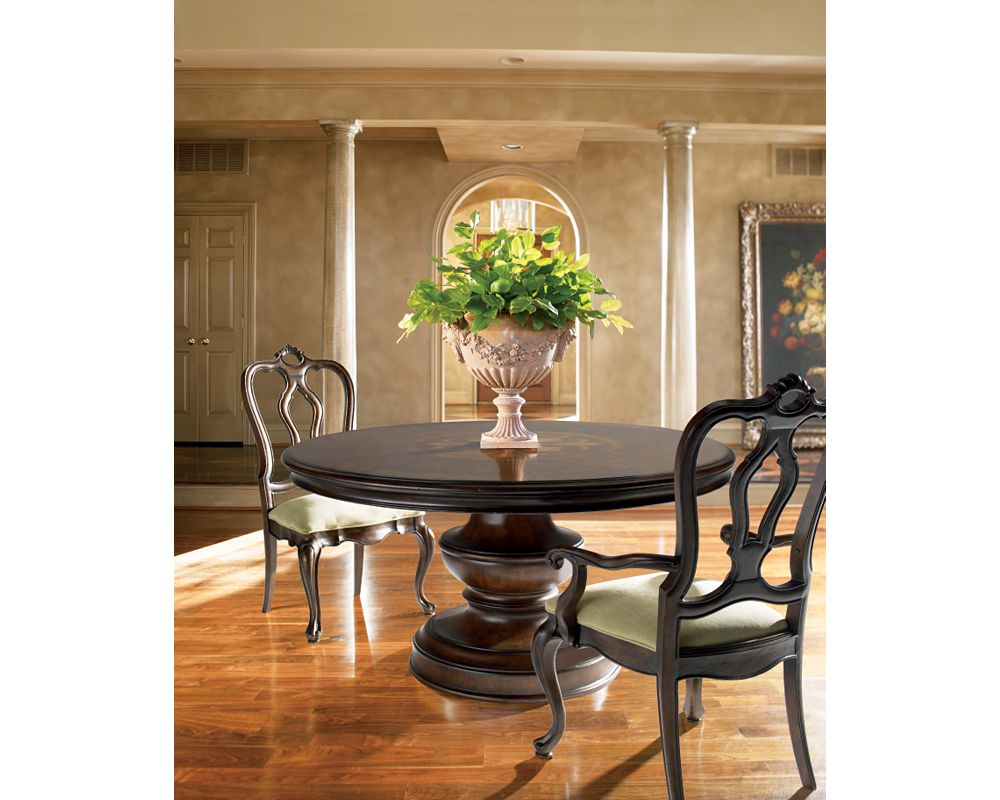 Elba round dining table dining room furniture for Dining room tables thomasville
