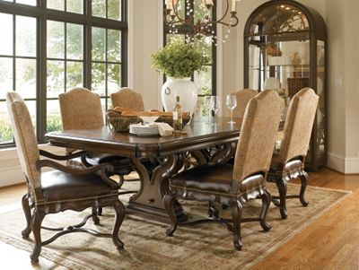 bibbiano trestle dining table | dining room furniture