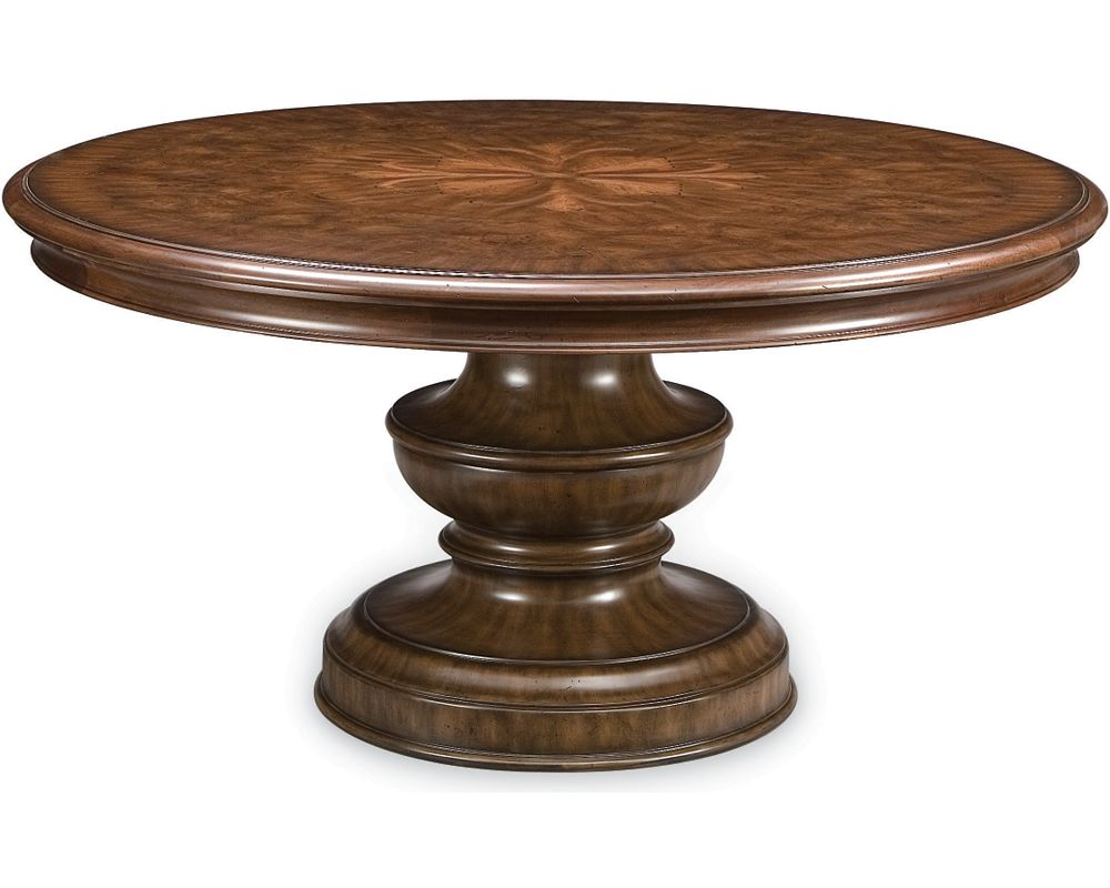 Dining Tables Wood Dining Tables Thomasville Furniture - 50 inch round pedestal table