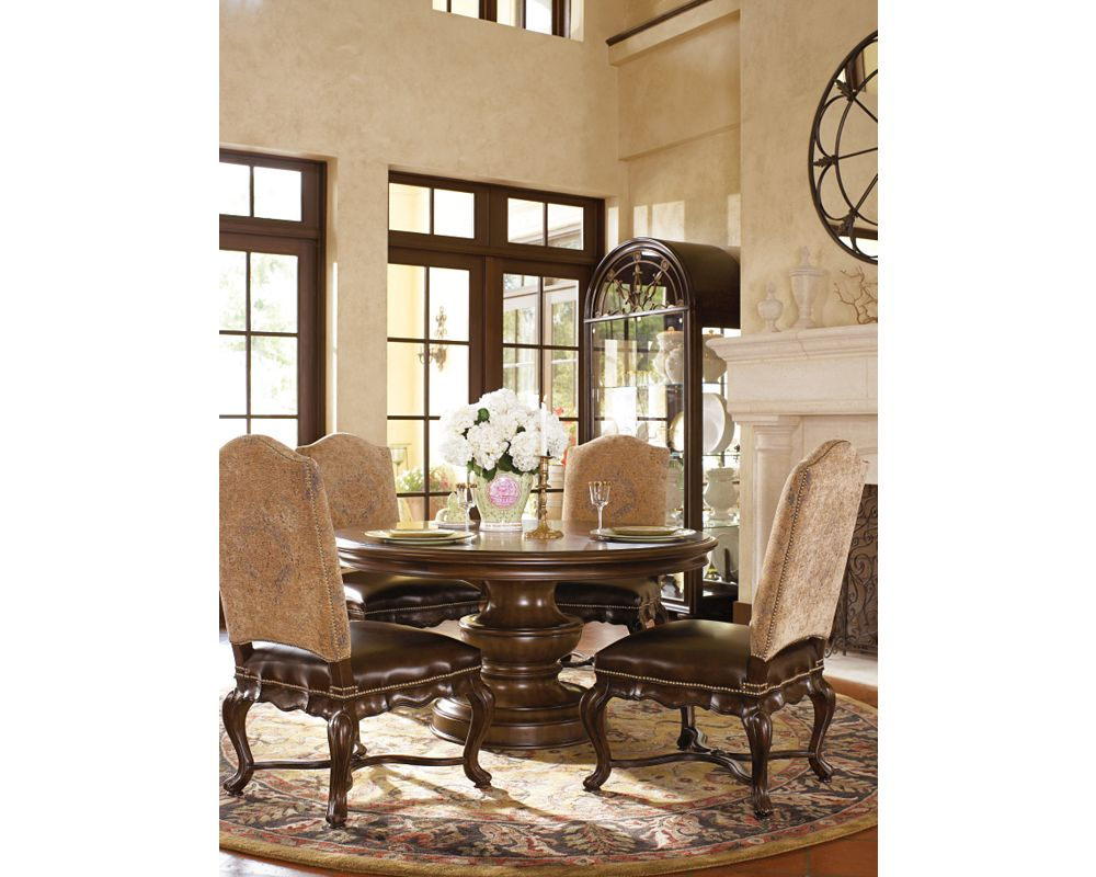 tuscan round dining table