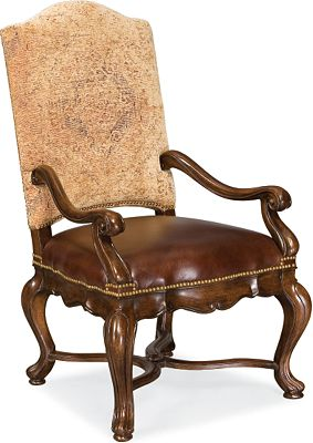 bibbiano upholstered arm chair | dining room furniture