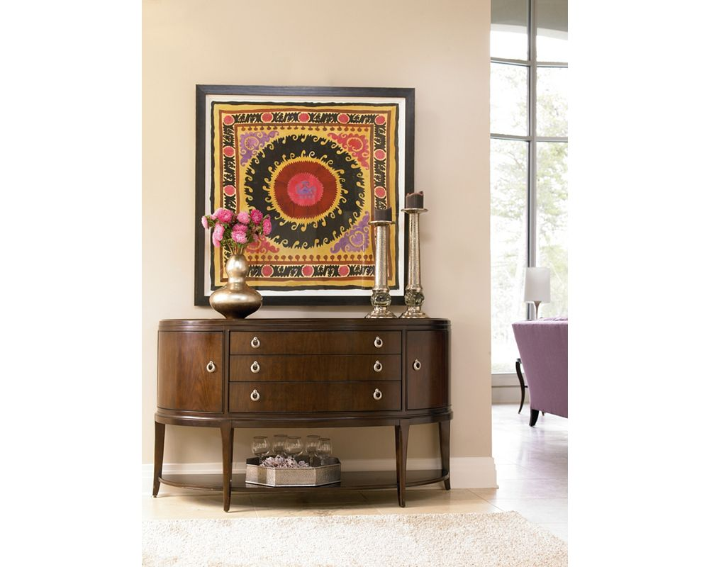 Credenza Dark Brown : Studio 455 credenza granite top thomasville furniture