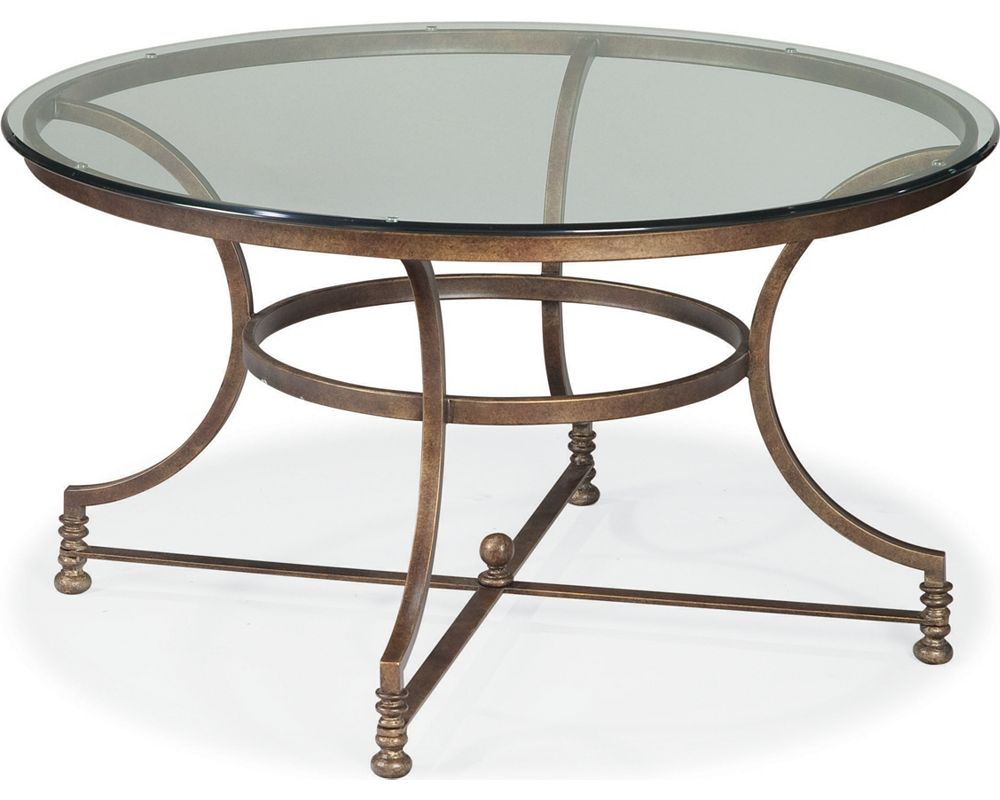 Round cocktail table living room furniture thomasville Round cocktail table
