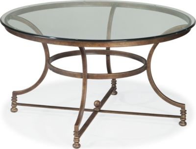Charmant Vintage Chateau Round Cocktail Table