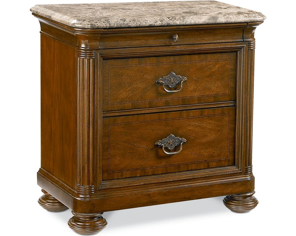 Ernest Hemingway® Nairobi Night Stand (Marble Top)