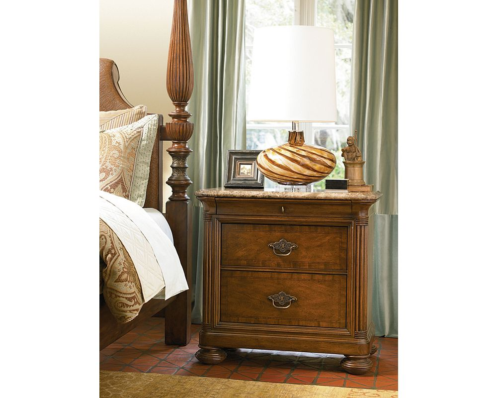 Ernest Hemingway 174 Nairobi Night Stand Marble Top